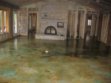 Acid Stain Radiant Heat Floor